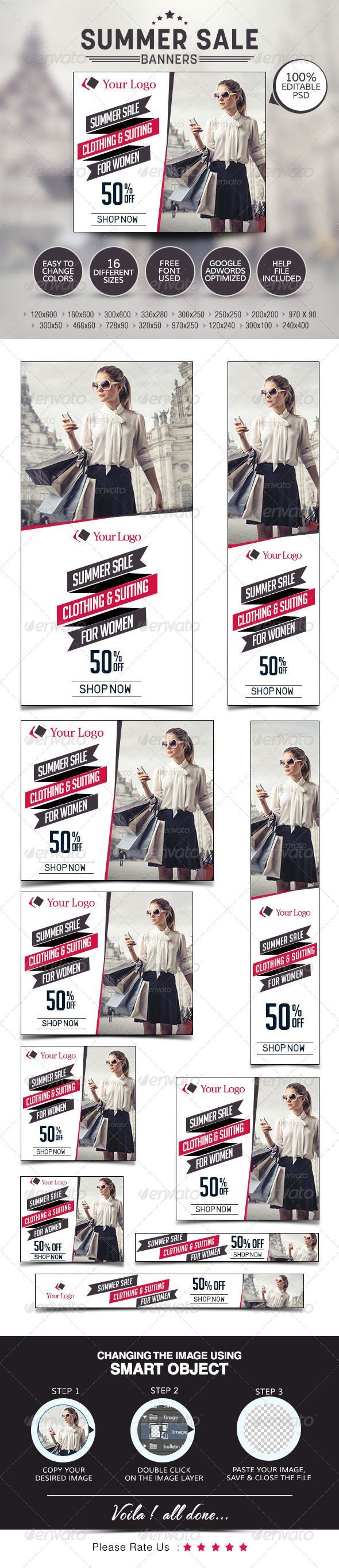 Poster design exhibition design large format wakefield - Buy Summer Sale Banners By Doto On Graphicriver Got A Summer Special Offer Promote Your Products And Services With This Great Looking Banner Set