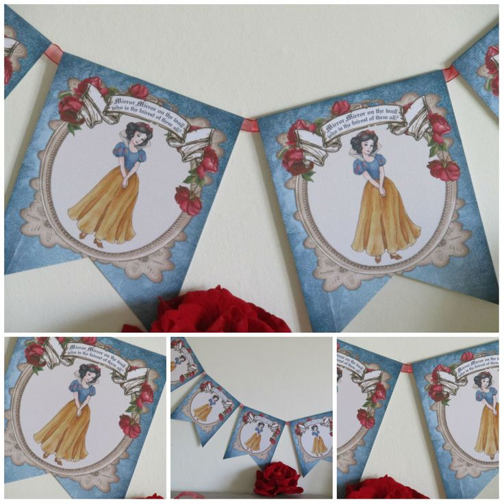 Floral Snow White Fairytale Bunting/Garland Wedding,Princess,Parties