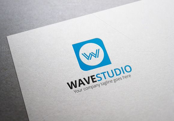 Wave Studio Logo by XpertgraphicD on Creative Market