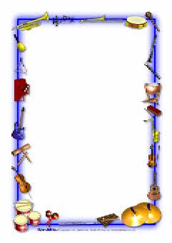 Musical instruments-themed A4 page borders (SB3886) - SparkleBox