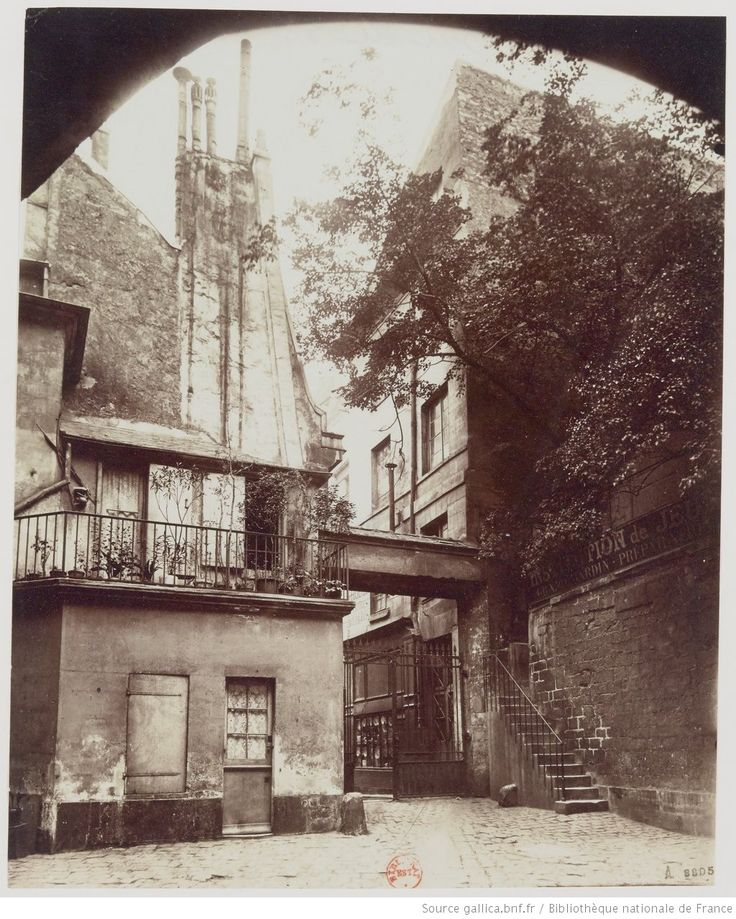 Cour de Rohan - Bd St Germain - Mur de Philippe Auguste : août 1898 : [photographie] / [Atget]