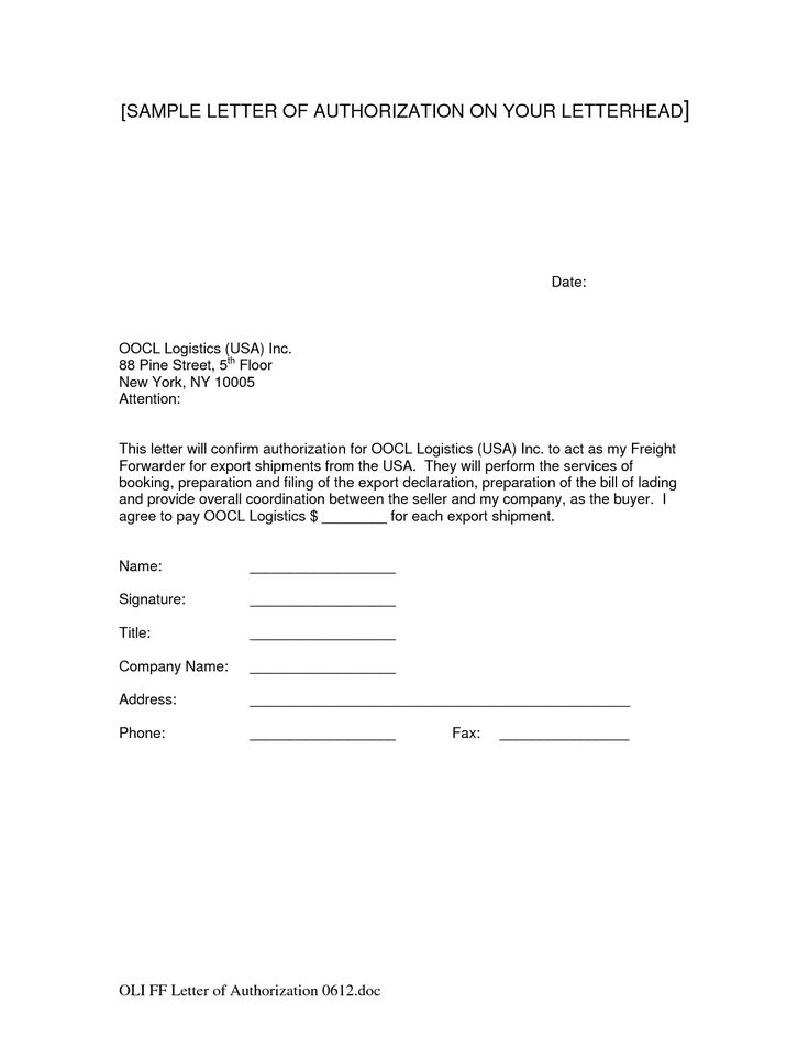 company letter authorization business samples amp templates template lab for