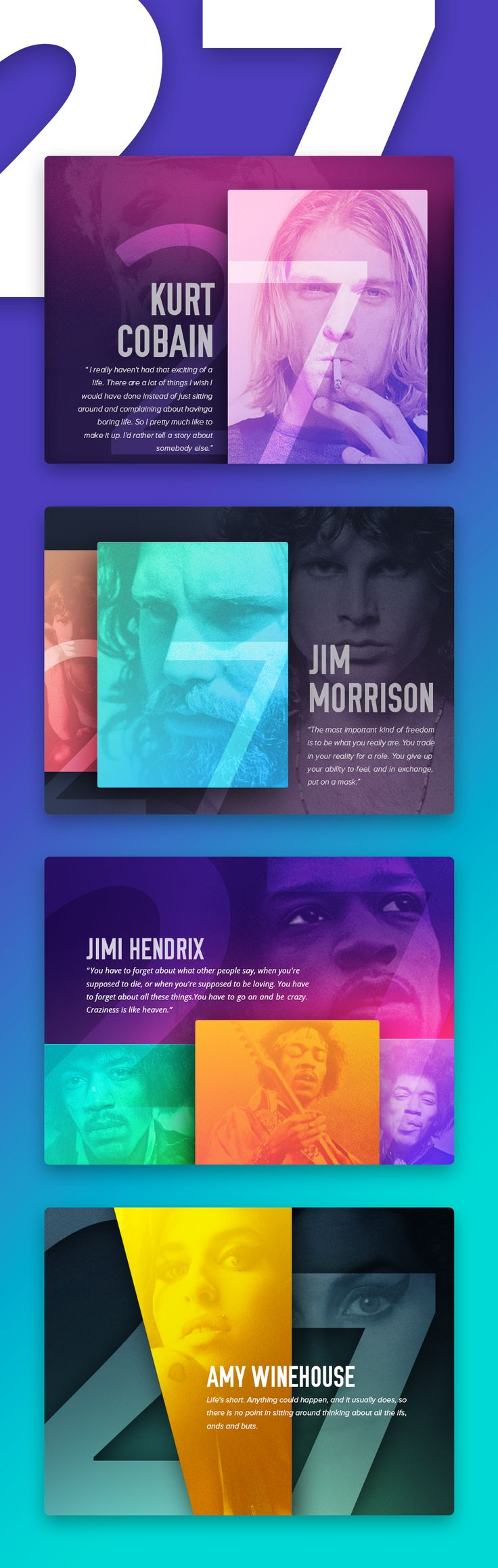 27 Club project on Behance