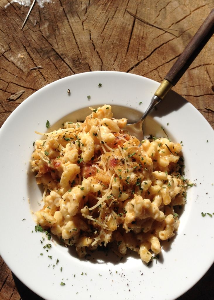 Mac and Cheese is taken to the next level with this recipe with bacon and rosemary.