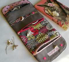 Jewellery roll pictured.....could adapt to a multi-pocketed, multi-zippered rolled pouch.