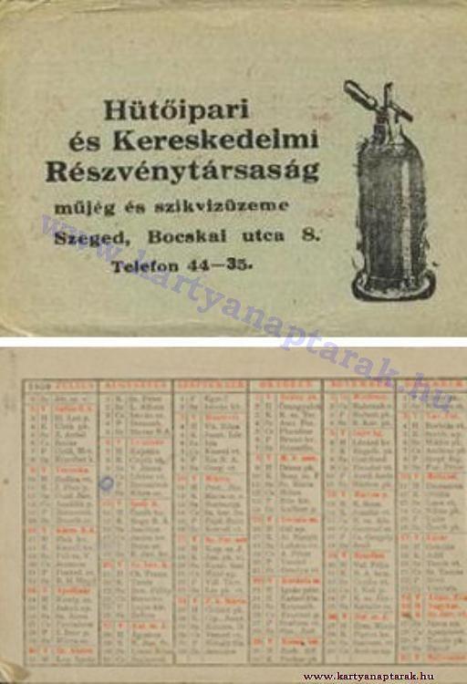 1950 - 1950_0011 - Régi magyar kártyanaptárak