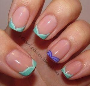 Disney's Ariel French Manicure. mermaids <3