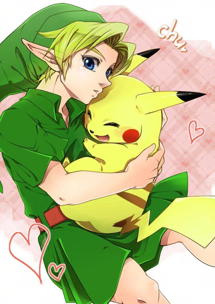 Link & Pikachu by @kumaEneco