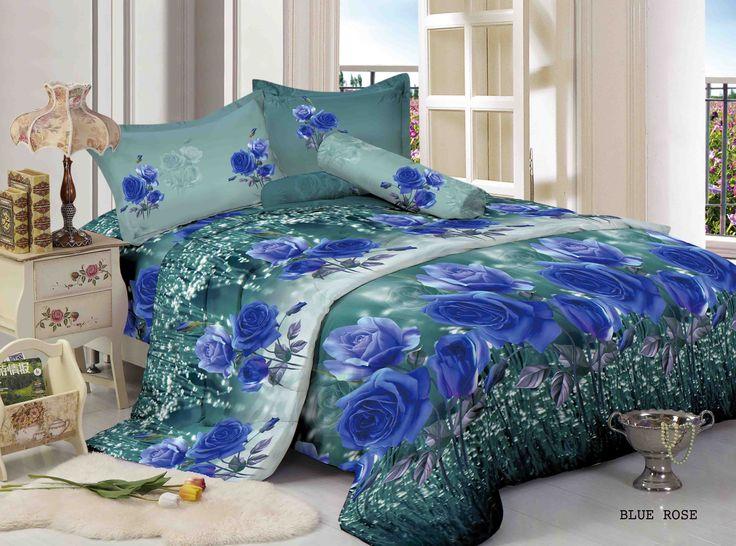 """BLUE ROSE - """"Design Blue Rose yang bernuansa glamour dengan motif utama bunga mawar yang elegan berwarna biru"""""""