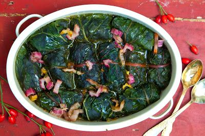 Mój zbiór przepisów kulinarnych-  wyszukane w sieci: Wegetariańskie gołąbki w liściach buraka