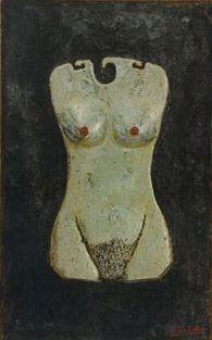Supernatural mannequin Polythene, quartz sand, synthetic wax, enamel on wood, 1997