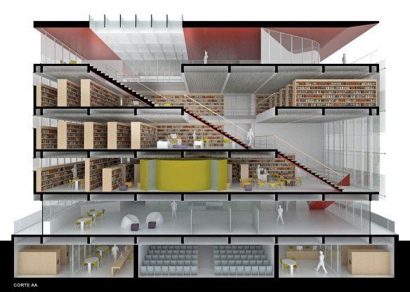 Concurso – Biblioteca Pública de Santa Catarina – 2º lugar | concursosdeprojeto.org
