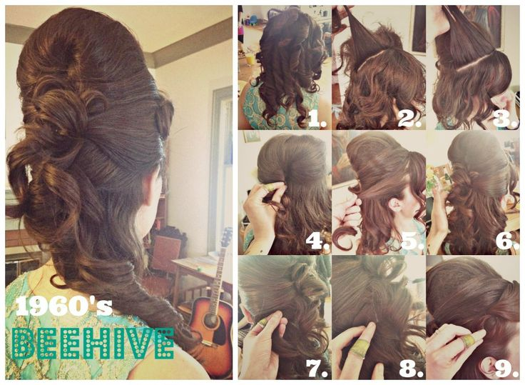 How To Hair - DIY Hair Resource From How To Hair Girl | How to make a perfect 1960's beehive.