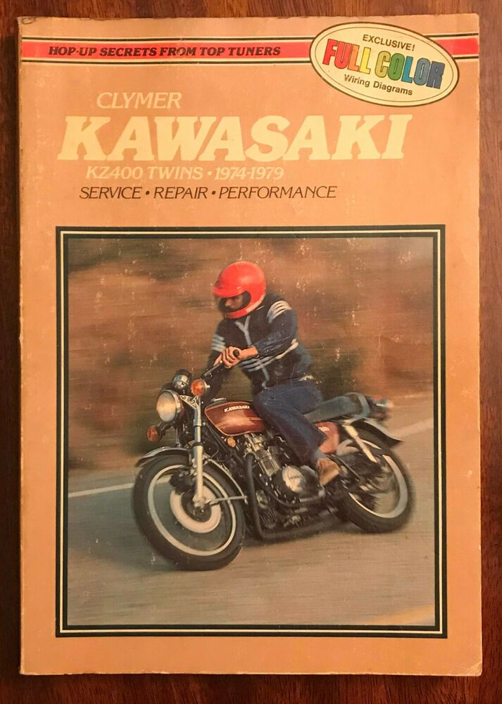 Clymer Kawasaki Kz400 Twins 1974 79 Motorcycle Repair Full Color Wiring Diagrams Motorcycle Repair Clymer Kawasaki