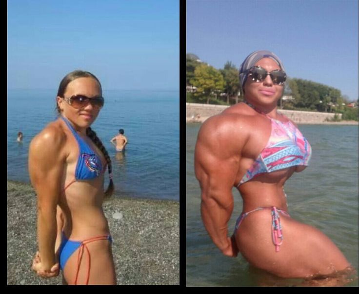 Check out this female bodybuilder's insane before and after photo