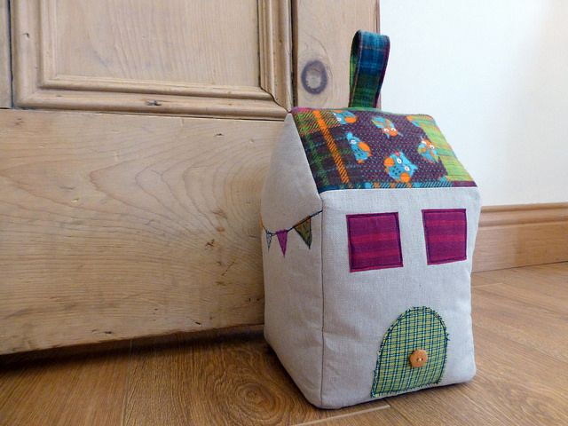 Owl House Doorstop (pattern available by Just Jude Designs, Etsy)