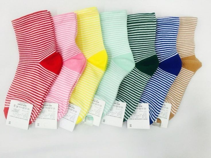 New Unisex Colorful VIVID Loose Stripe Cotton Socks_7 options #Unbranded #Casual