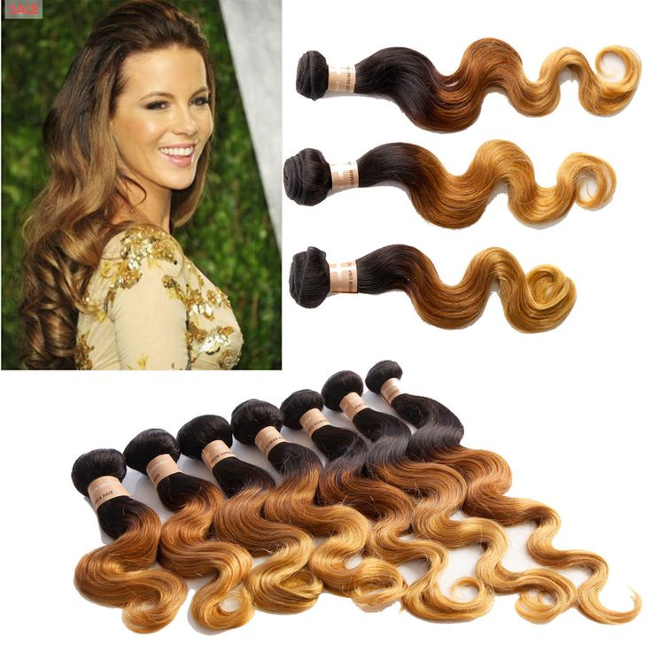 """Free US SHIP Ombre Human Hair Extension 12""""-24"""" 1b33#27#  Body Wave 100g/bundle  #WIGISS #HairExtension"""