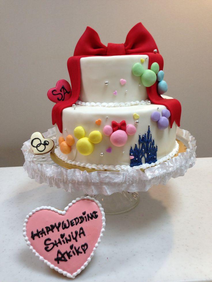 ミッキーミニーのウエディングケーキ