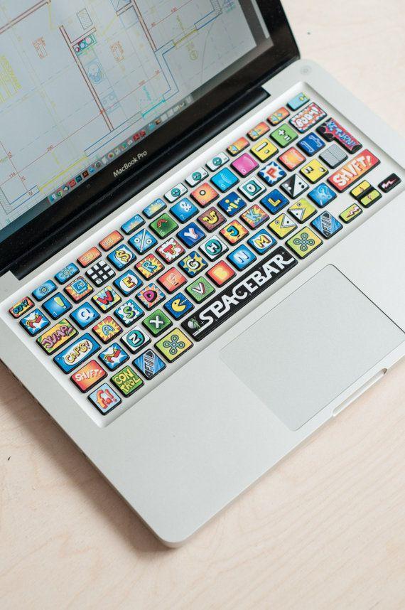 Macbook Decal Macbook Keyboard Stickers Macbook Cover Keyboard Decal Comic Book Art Decor Cartoon Art Cartoon Stickers Decals # Comic Book