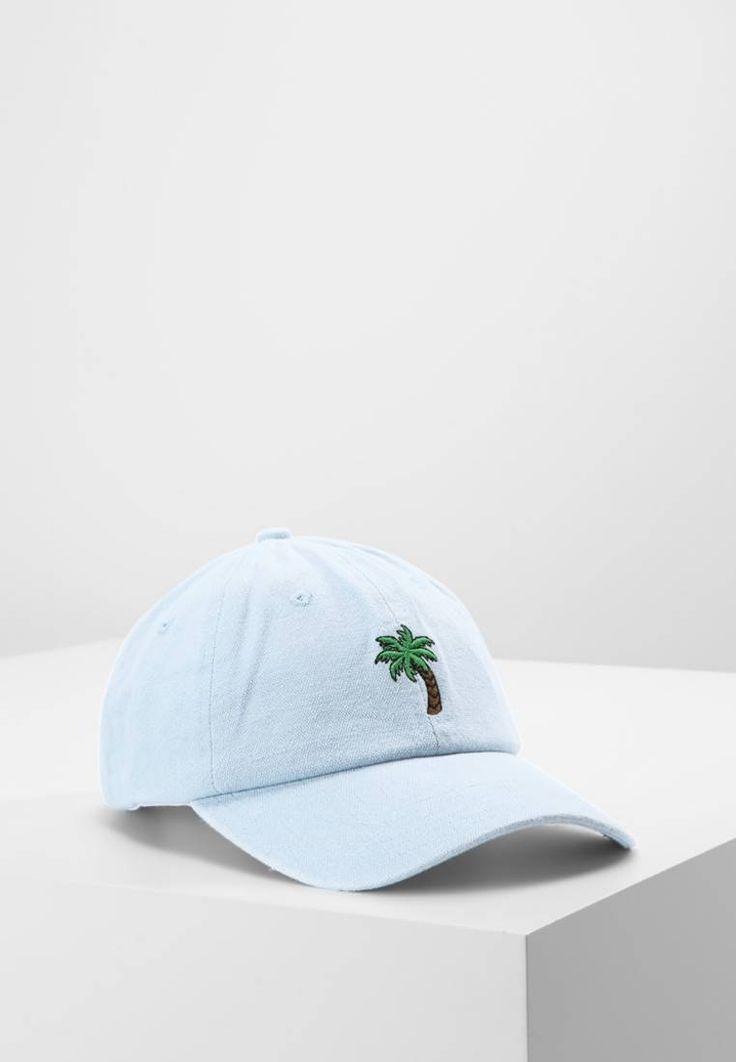 Missguided. PALM - Cap - blue. Material Oberstoff:100% Baumwolle. Materialkonstruktion:Denim. Muster:unifarben