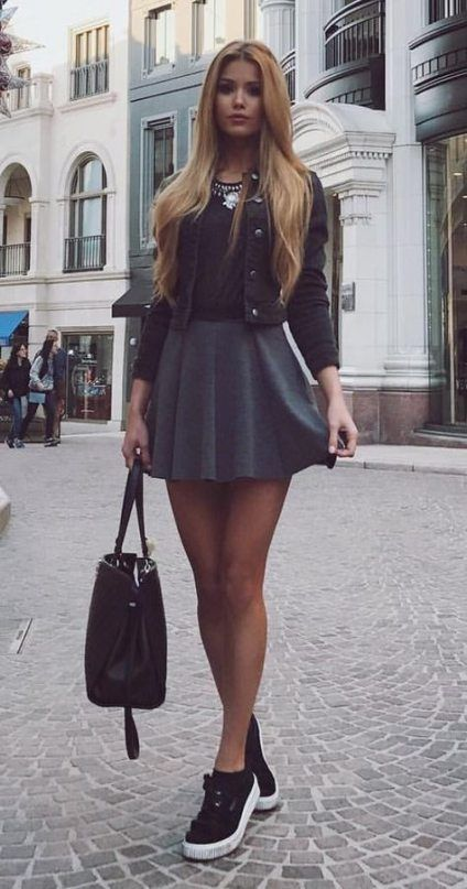 27 ideas skirt outfits for teens casual heels