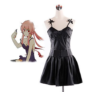 Cosplay Costume Inspired by The Future Diary Gasai Yuno Black Dress  //Price: $ US $19.90 & FREE Shipping Worldwide//       #clothing #fashion #makeup #lips #face #dress #lipstick #style #trend