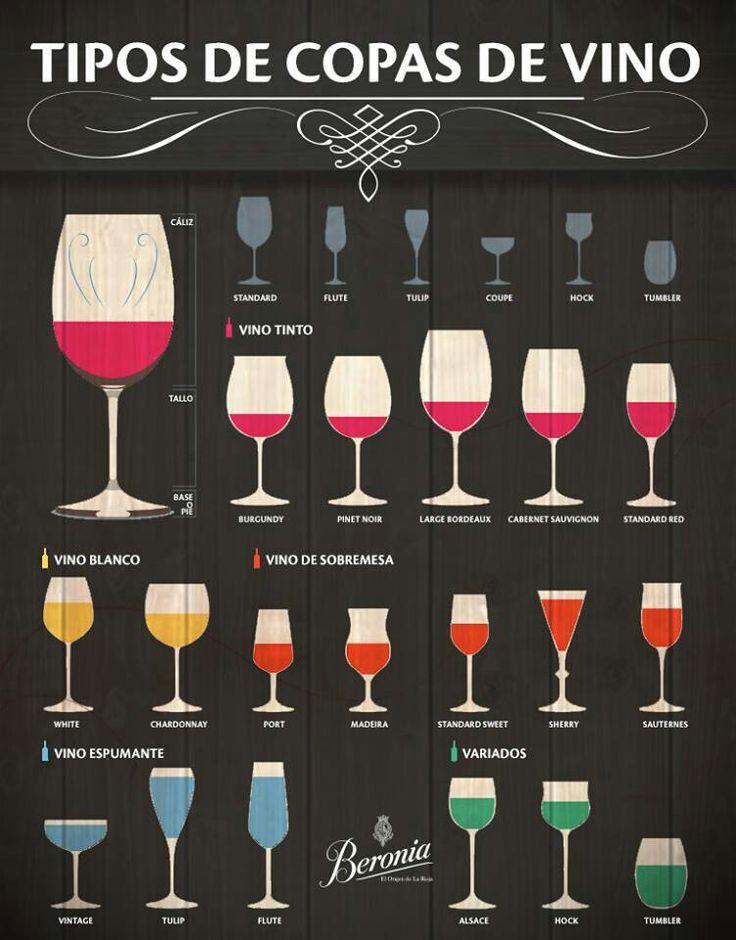 Las 25 mejores ideas sobre copa de vino en pinterest for Tipos de copas
