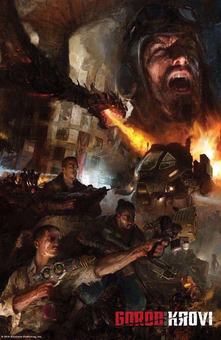"Call of Duty Gorod Krovi Poster Video Game Print Size 13x20"" 24x36"" 32x48"""