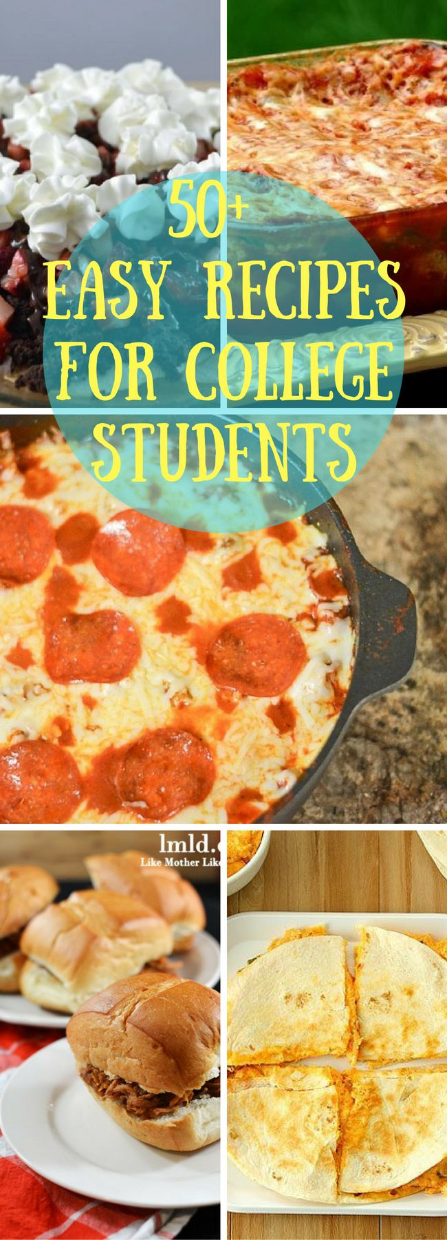 College Recipes / Recipes for College Students / College Student Recipes / Easy Recipes / Easy Recipes for College Students / Beginning Cook
