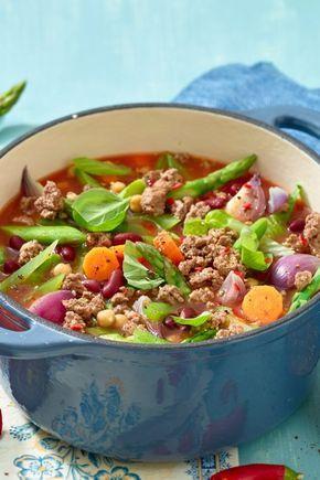 Para perder peso: Nossa sopa de legumes com carne picada   – Suppen