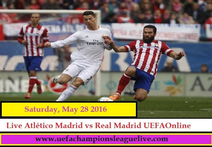 Watch here UEFA Champions league Match between Real Madrid vs Atlético Madrid live on Saturday, May 28, 2016 at from San Siro Stadium in Milan, Italy. Watch Live Real Madrid vs Atlético Madrid Match in UEFA Champions league, Watch live streaming Real Madrid vs Atlético Madrid online .Watch Live UEFA Champions league in hd quality,   Watch Live Here : http://www.uefachampionsleaguelive.com/