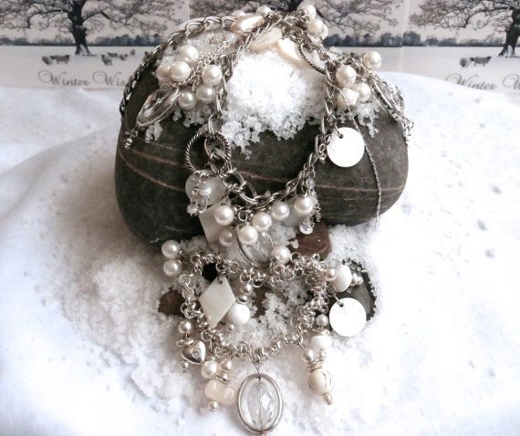 Bracelet / Necklace Set  Mixed Assemblage Two Piece by ReTainReUse, $45.00