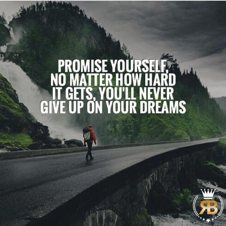 """2,421 Likes, 23 Comments - Developing the Success Mindset (@risebeyond.nico) on Instagram: """"Promise yourself that no matter how hard it gets, you'll never give up on your big goals and…"""""""