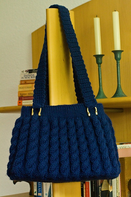 Ravelry: Project Gallery for 98-54 Bag with cable pattern in Eskimo pattern by DROPS design