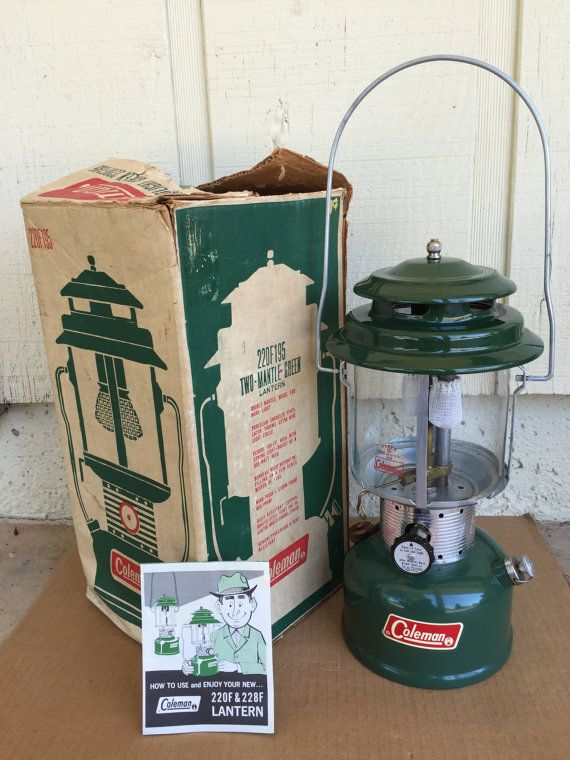 Coleman Lantern Vintage Camping Gear Retro by BetterThanBellows