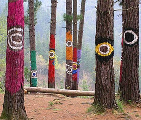 Bosque de Oma de Agustín Ibarrola. (El bosque pintado)