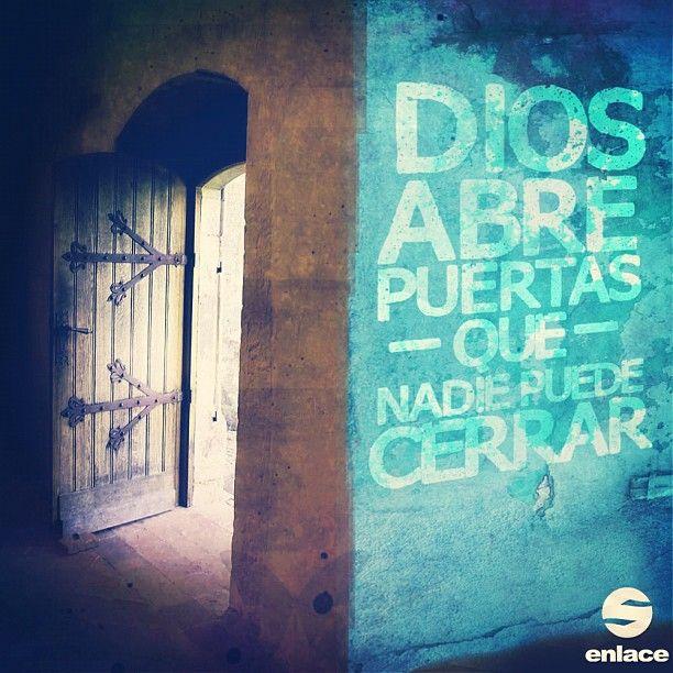 Dios abre puertas que nadie puede cerrar. ¡Créelo!