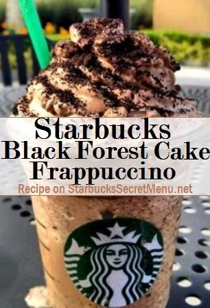 Starbucks Secret Menu: Black Forest Cake Frappuccino | Starbucks Secret Menu