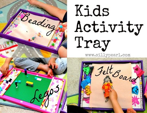 The Silly Pearl {Handmade}: Kids Activity Tray For Beading, Legos and as a Felt Board