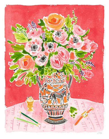 Still Life with Urn - Caitlin McGauley - Tiger Flower Studiohttp://tigerflowerstudio.com/collections/gallery/products/in-the-garden
