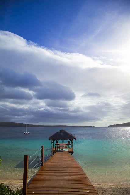 The Havannah - a hotel just outside Port Vila, Vanuatu