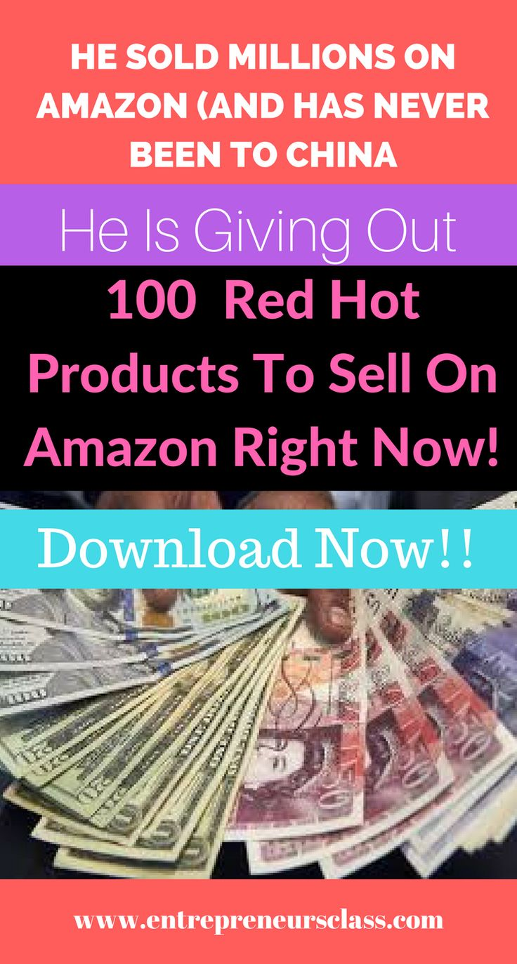 Hear an Amazon millionaire's secret to product sourcing. He sold millions on Amazon (and has never been to China) .Get free access to 100 red hot opportunity you can sell on amazon right now.