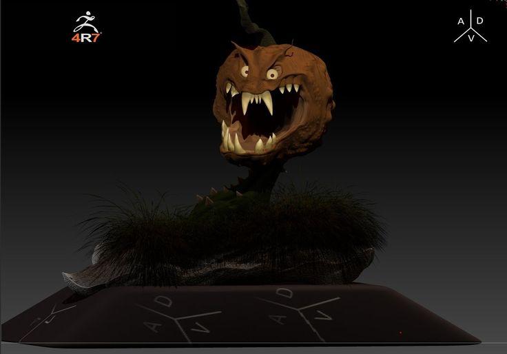 zbrush Evil Pumpkin