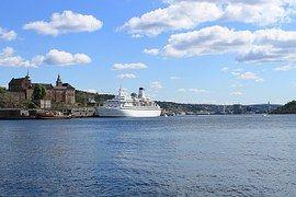 Oslo, Noruega, Puerto, Buque