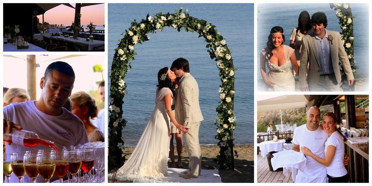 Beach Wedding at Luna beach club in Benalmadena, Costa del Sol