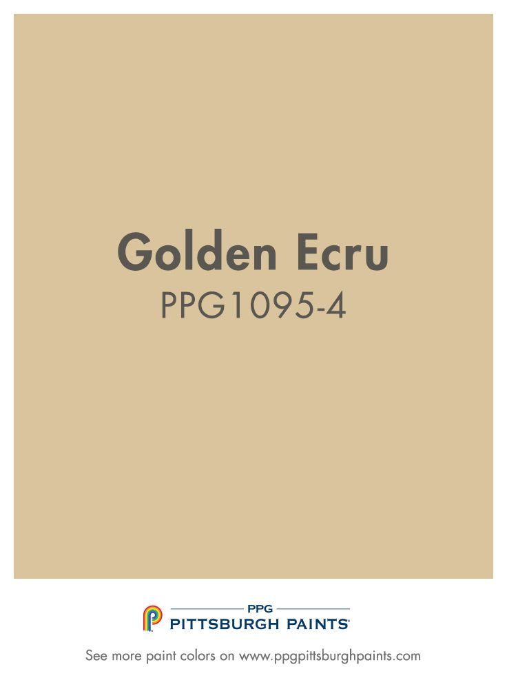 Golden Ecru is a golden beige paint color from PPG Pittsburgh Paints.
