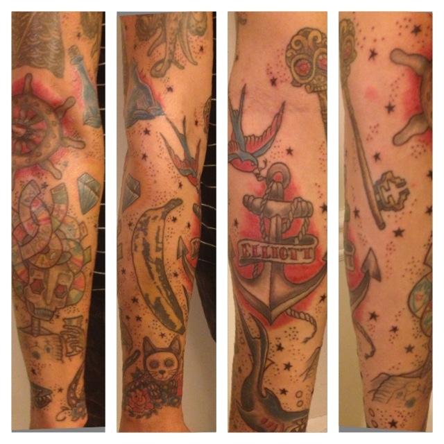 Sleeve Tattoo Filler Designs: Traditional Tattoo Sleeve