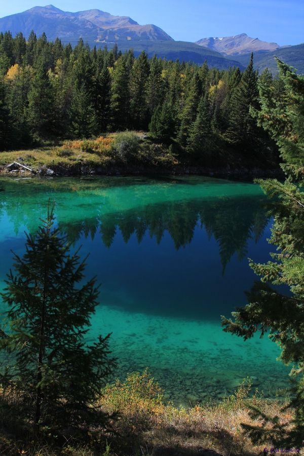 Beautiful Colors- Emerald Lake between Skagway, Alaska and Whitehorse (in the Yukon)