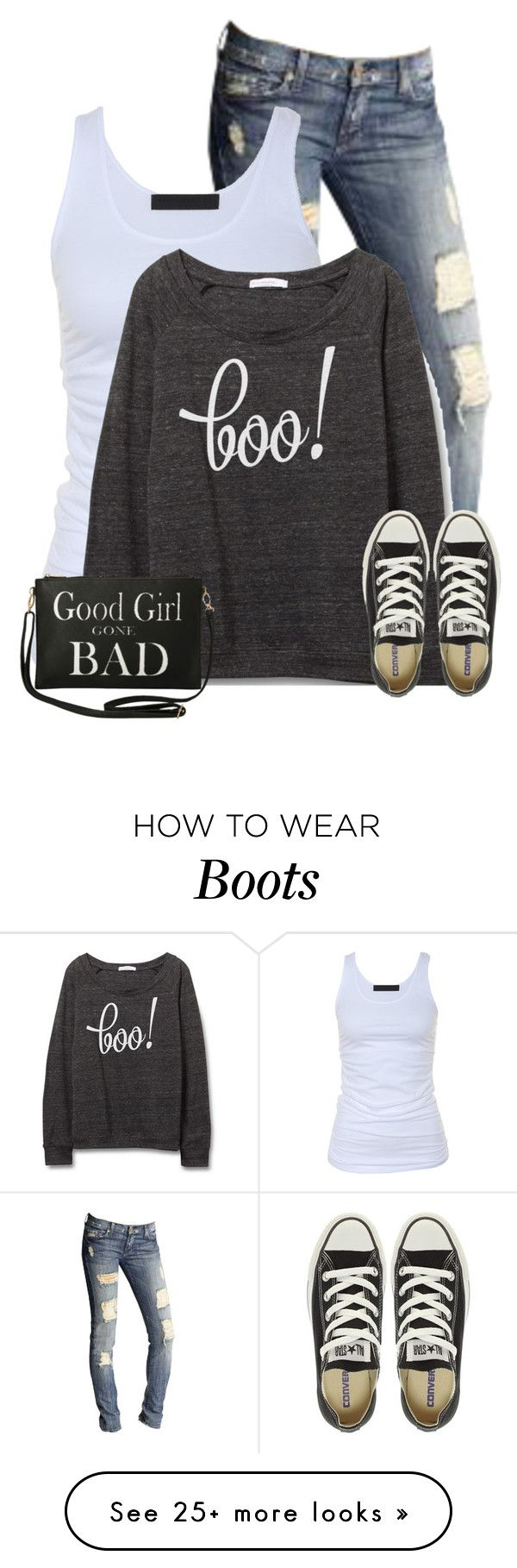 """Halloween Sweaters"" by cindycook10 on Polyvore featuring 7 For All Mankind, Tusnelda Bloch, Converse and Torrid"